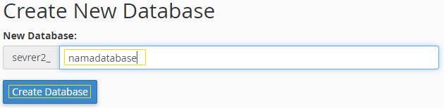 mysql database cpanel